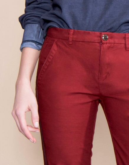 Chino Trousers Sandy Herring - CARMIN