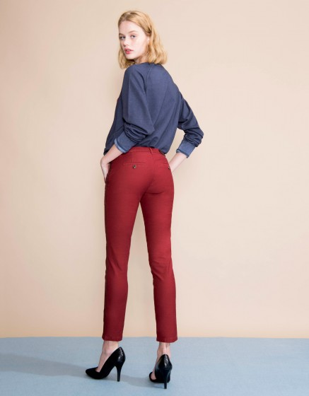 Chino Trousers Sandy Herring - CARMIN