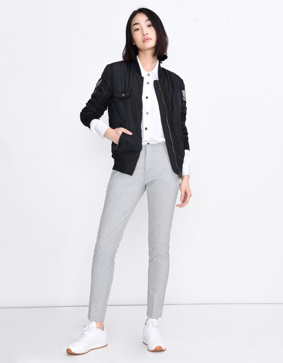 Cigarette Trousers Lizzy Color - GRIS SOURIS
