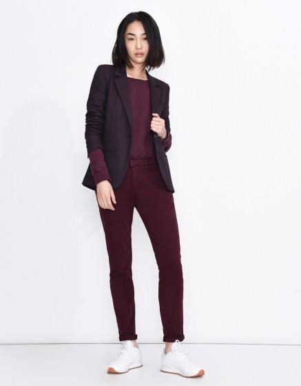 Pantalon chino Sandy Basic - BORDEAUX FONCE