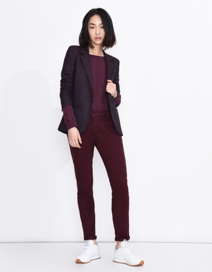 Pantalon chino Sandy Basic - BORDEAUX FONCE