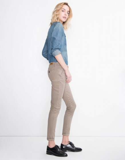 Pantalon chino Sandy Basic - TAUPE
