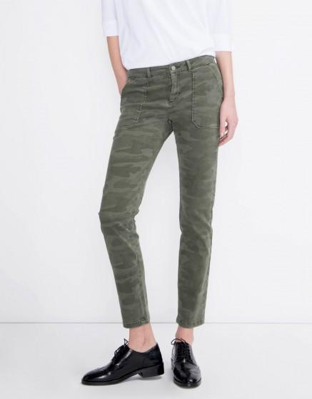 Street trousers Sandrine Camou - Couleur unique