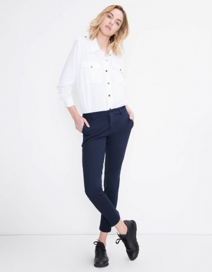 Cigarette Trousers Lizzy Color - NAVY