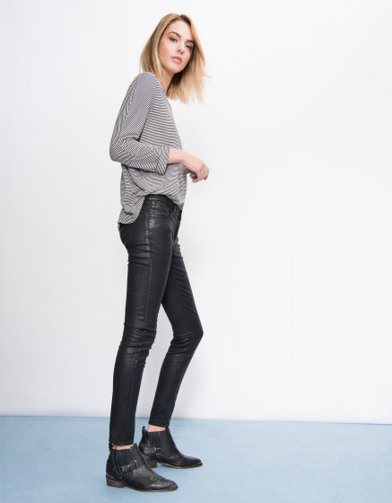 Pantalon skinny enduction Nelly - CARBONE