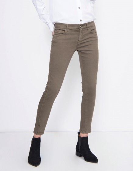 Skinny cropped trousers Daytona Color - VINTAGE KAKI