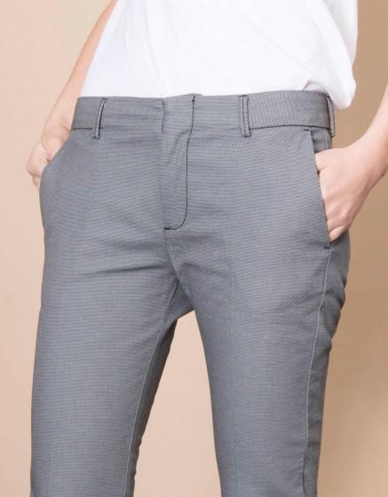 Cigarette Trousers Lizzy Fancy - STONE