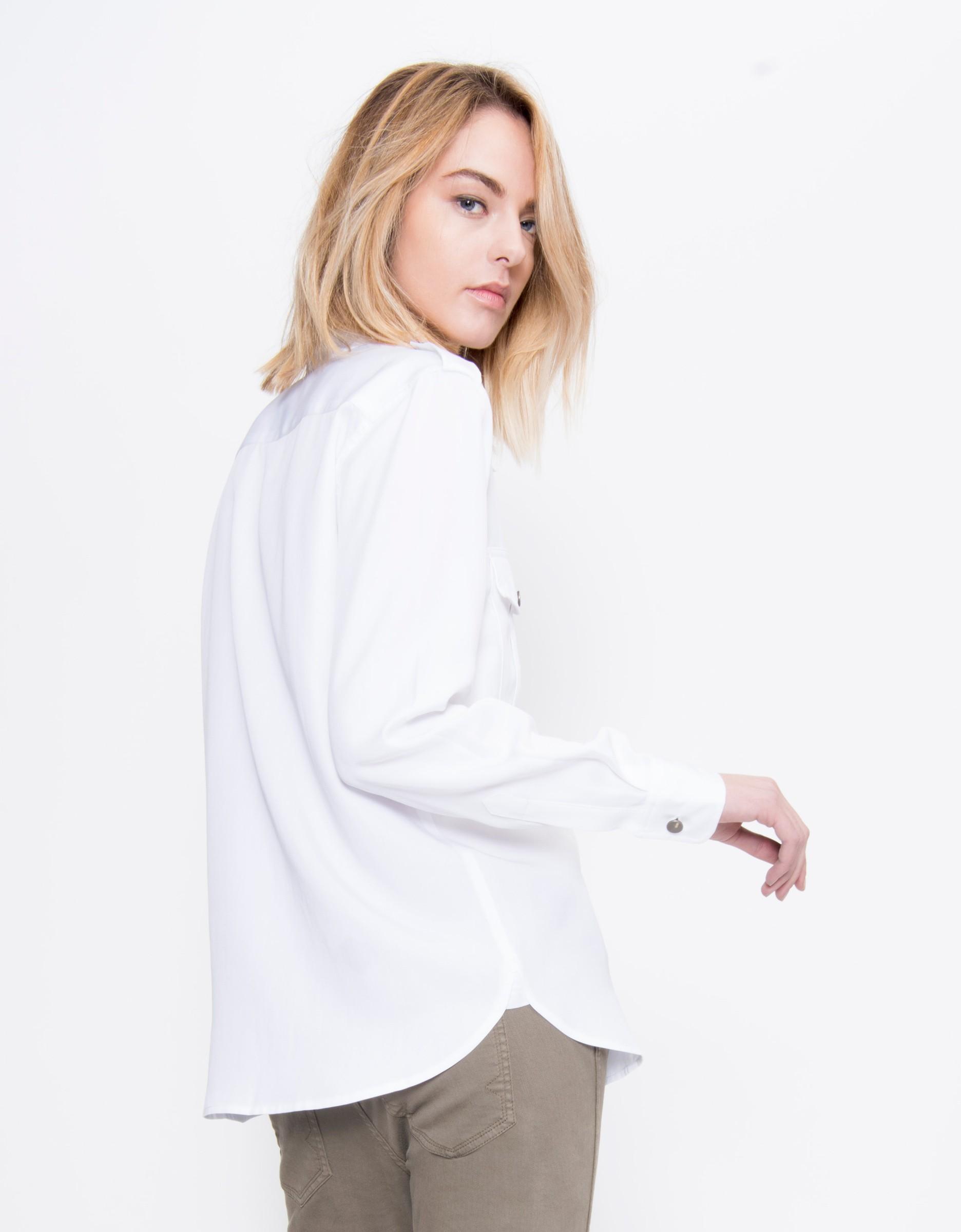 chemise fluide blanche pour femme carlyne reiko. Black Bedroom Furniture Sets. Home Design Ideas