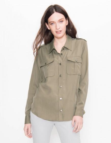 Flow shirt Carlyne - VINTAGE KAKI