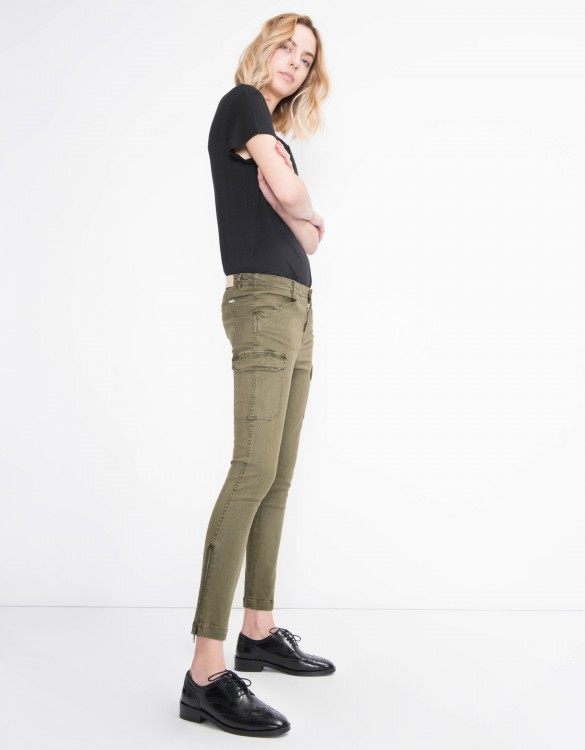 Skinny trousers Pitt - VINTAGE KAKI