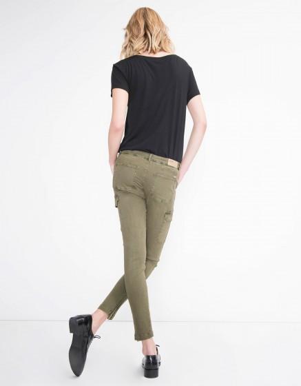 Pantalon skinny Pitt - VINTAGE KAKI
