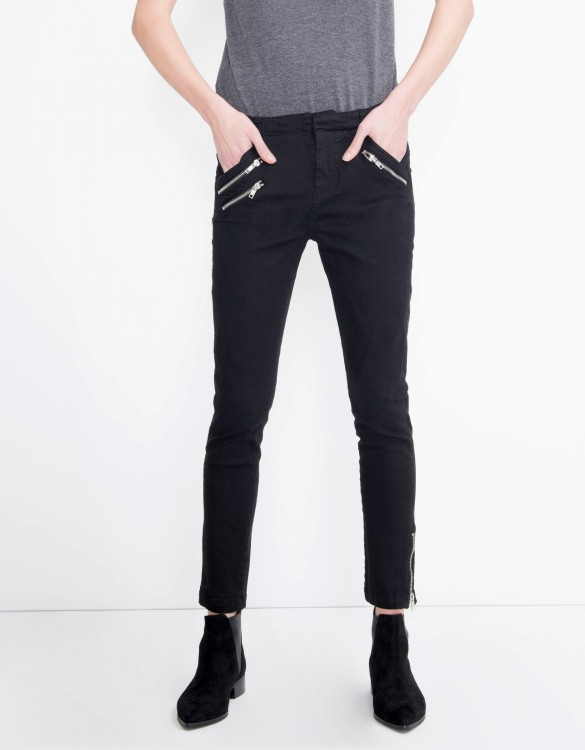 Skinny trousers Presley - BLACK