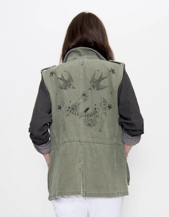 Sleeveless Jacket Ashley - VINTAGE KAKI