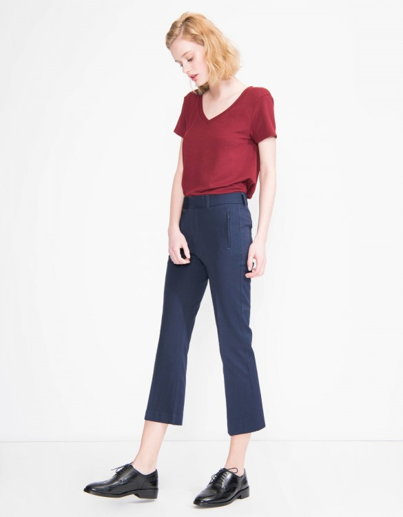 Pantalon straight cropped Lexi - NAVY