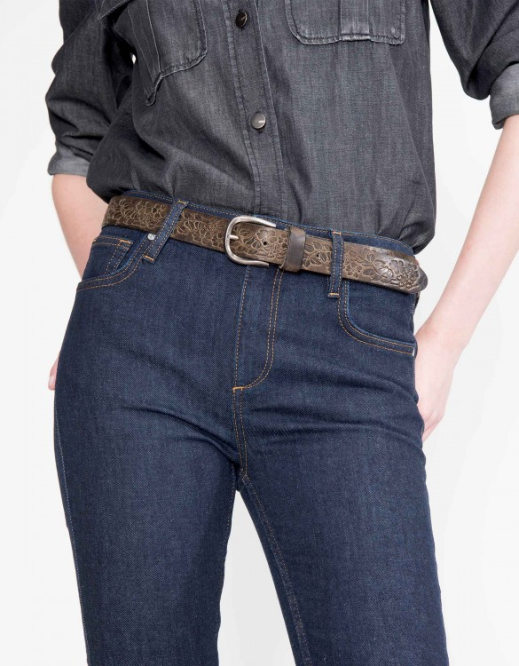 Belt Elza - DARK BROWN