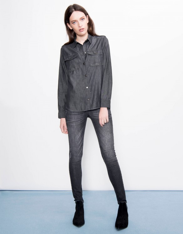 Denim shirt Carlyne - BLACK DENIM