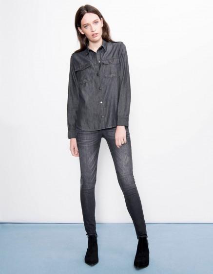 Denim shirt Carlyne - BLACK DENIM