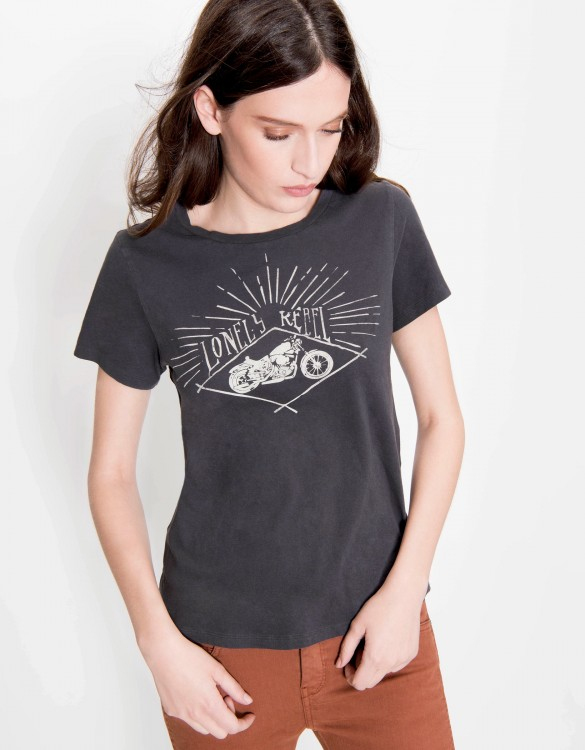 T-shirt Ulysse Print - CARBONE