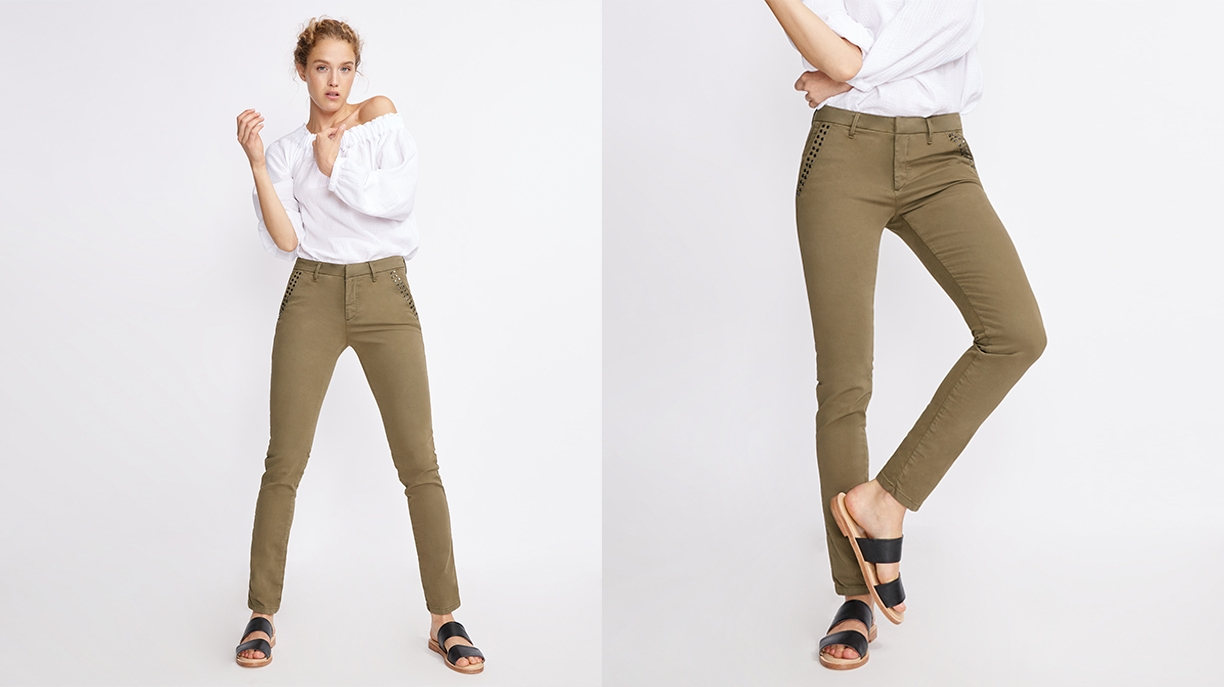 Chino Trousers Sandy Studs - VINTAGE KAKI