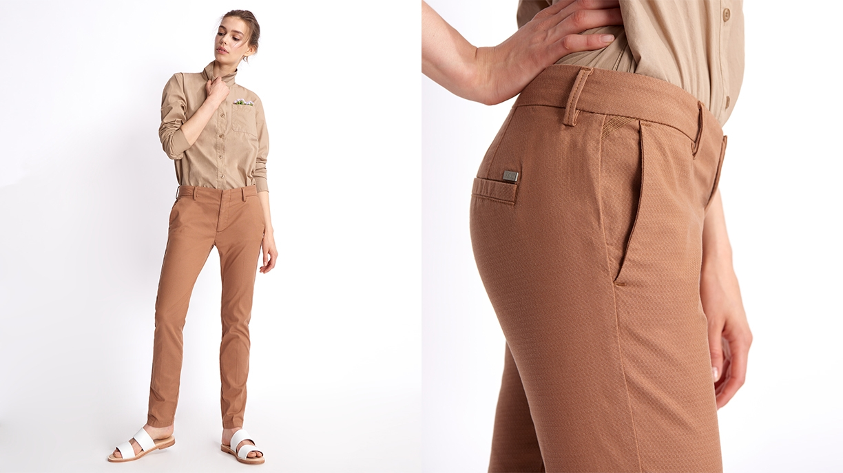 Cigarette Trousers Lizzy Fancy - MOKA