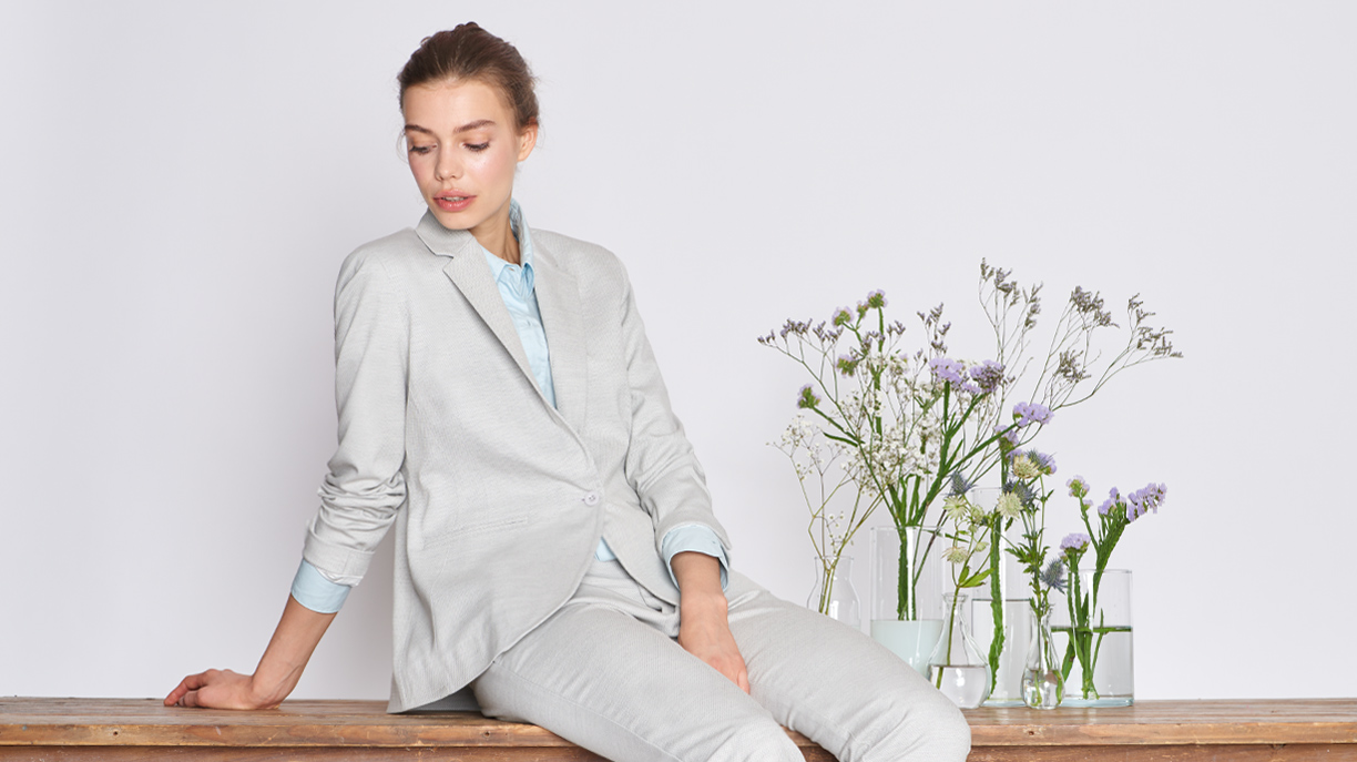 Blazer jacket Birkin Fancy - CLOUDY