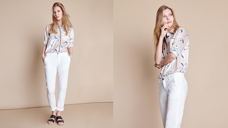 Chino trousers Pam - WHITE