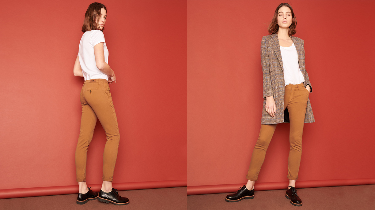 Pantalon chino Sandy 2 Basic - CHAMOIS