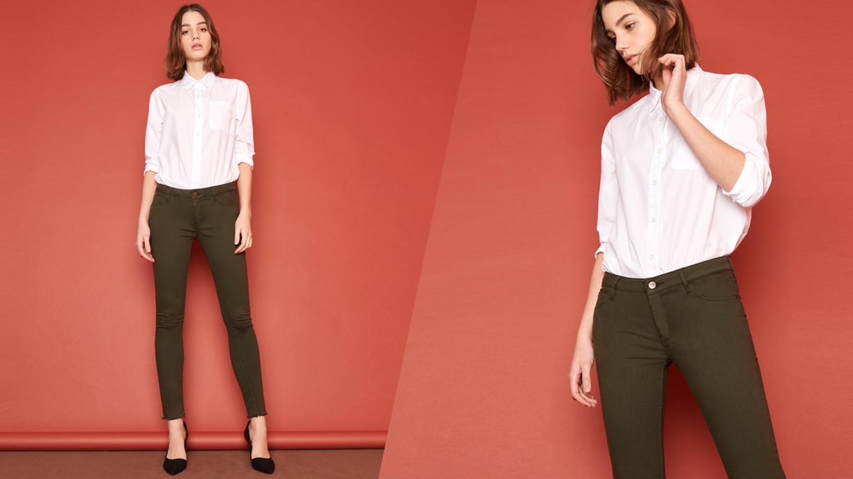 Pantalon skinny cropped Lily Color - VERT DE CHROME